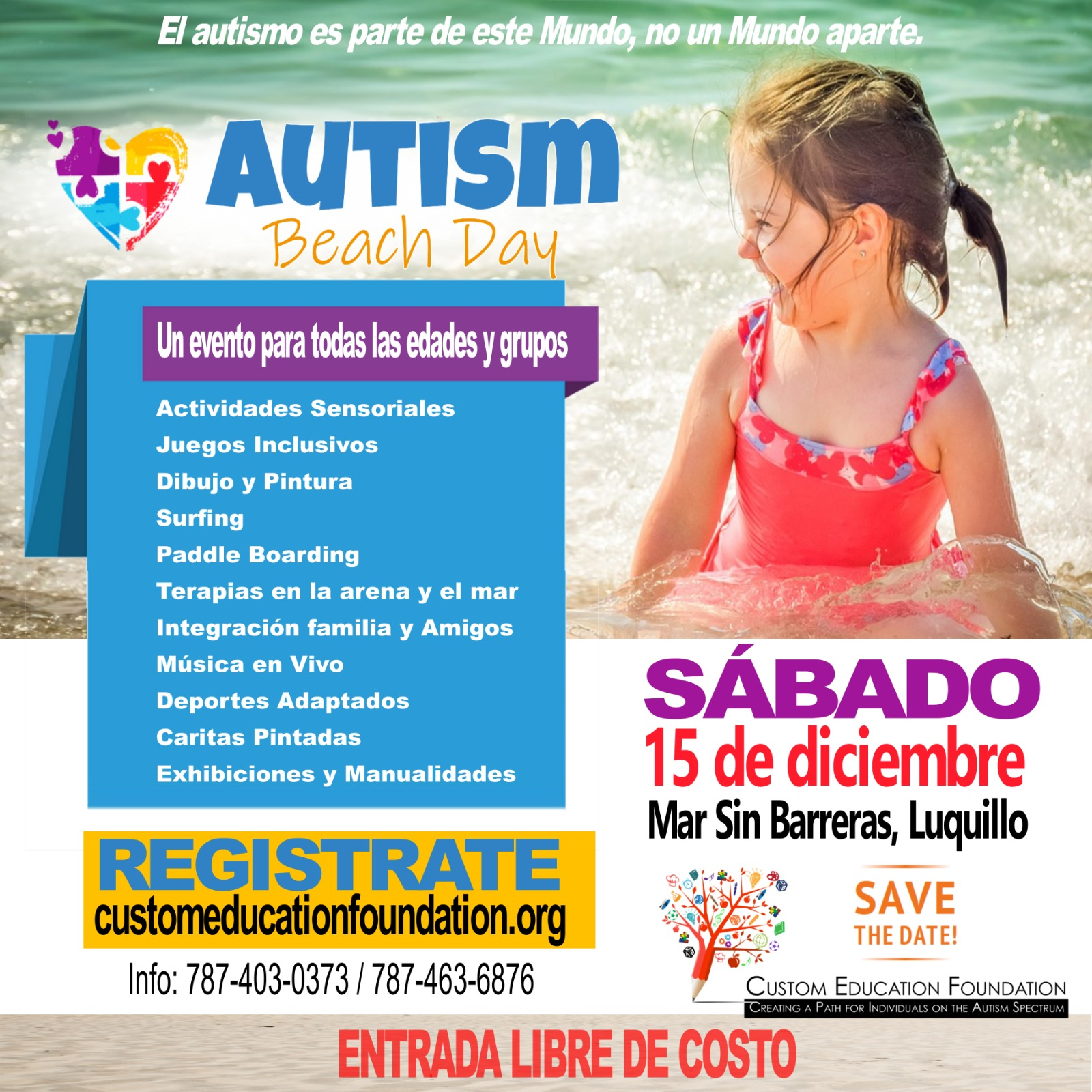 Autism Beach Day 2018 Flier