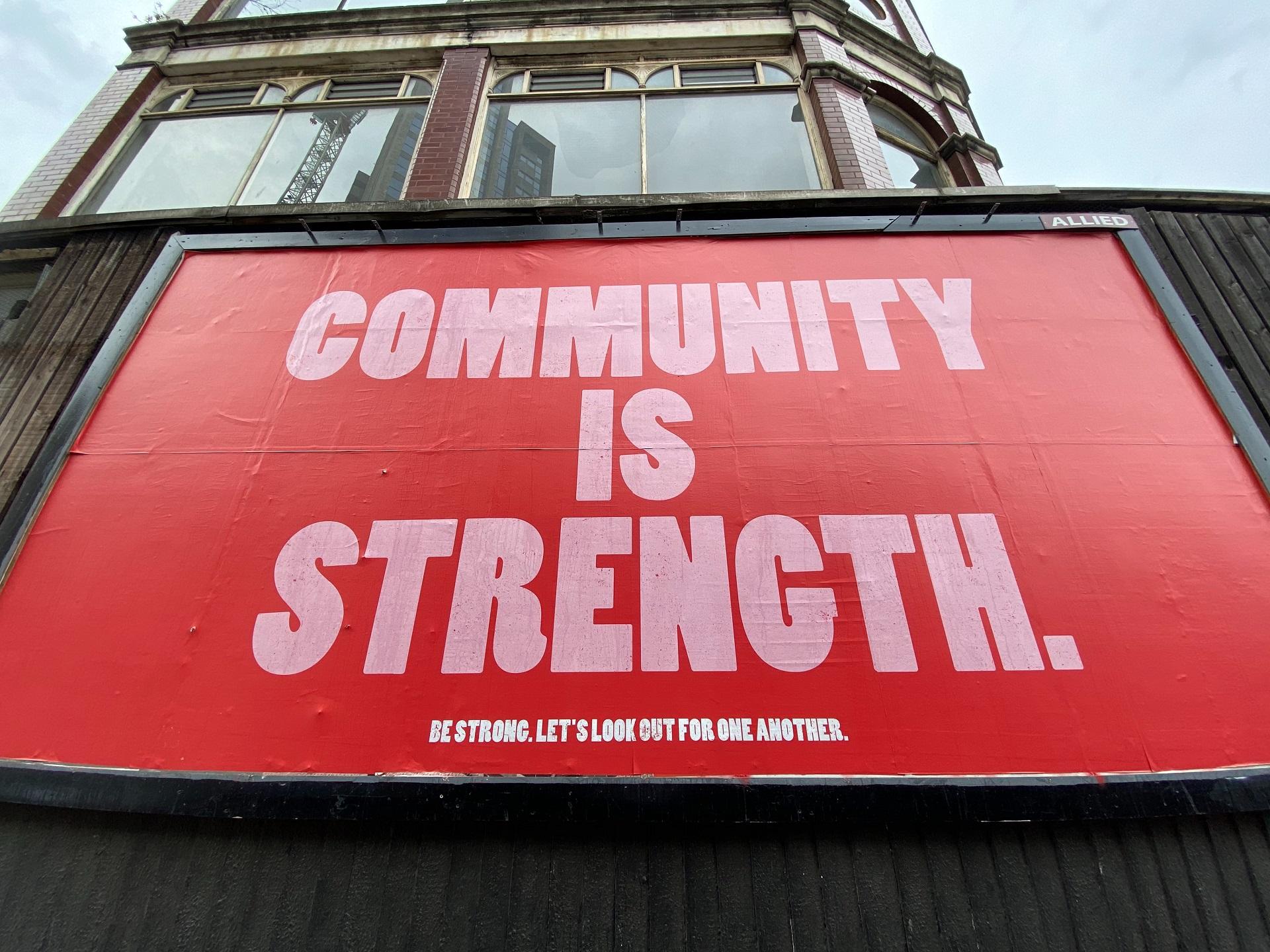 Community is Strength Billboard